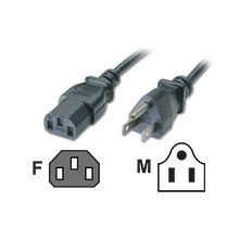 "24"" UNIVERSAL POWER CORD - 2 ft"