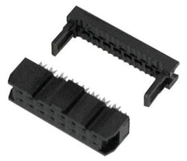 Flat Ribbon 2X8 16-Pin Dual Row IDC SOCKET